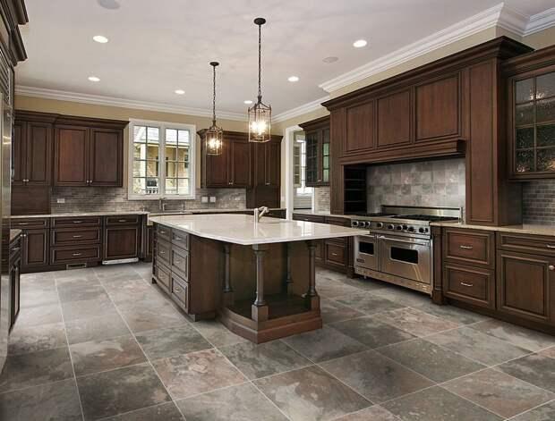 Использование плитки в интерьере кухни