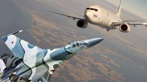 Российский Су-30 перехватил американский самолет-разведчик в Сирии