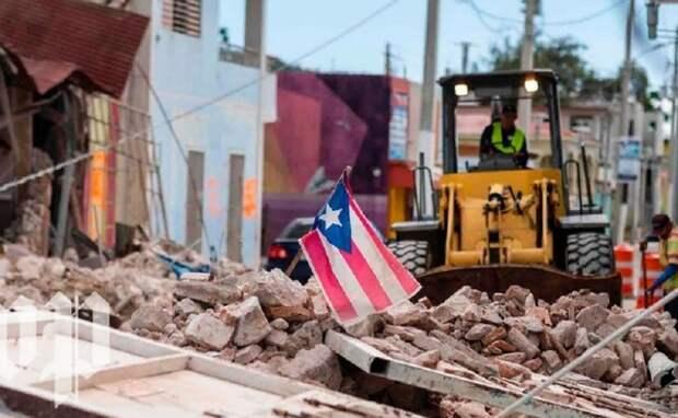 В Пуэрто-Рико 20 тысяч человек оставили свои дома из-за землетрясений