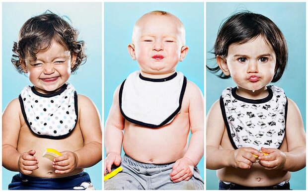 Дети и лимон – первая встреча в забавном фотопроекте