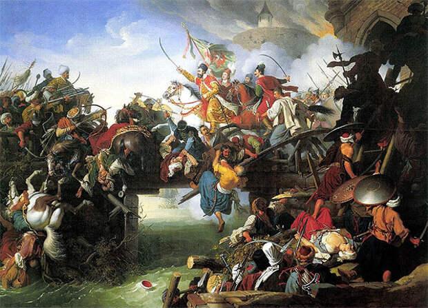 И. Крафт. Миклош Зриньи обороняет крепость Сигетвар