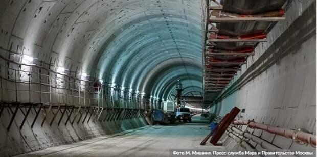 Собянин рассказал о скором завершении строительства тоннелей БКЛ метро