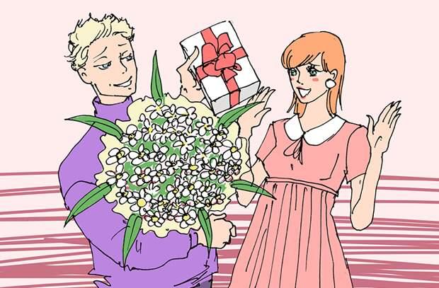 Любят, чтобы им дарили цветы девушки, иностранцы, люди, мнение, русские девушки, факты