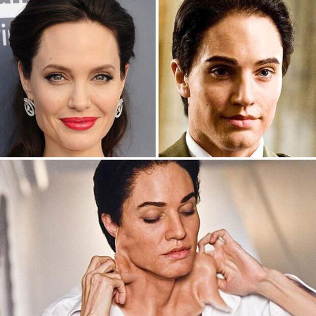 12 крутых фото до и после, на которых актеров превращают в чудовищ