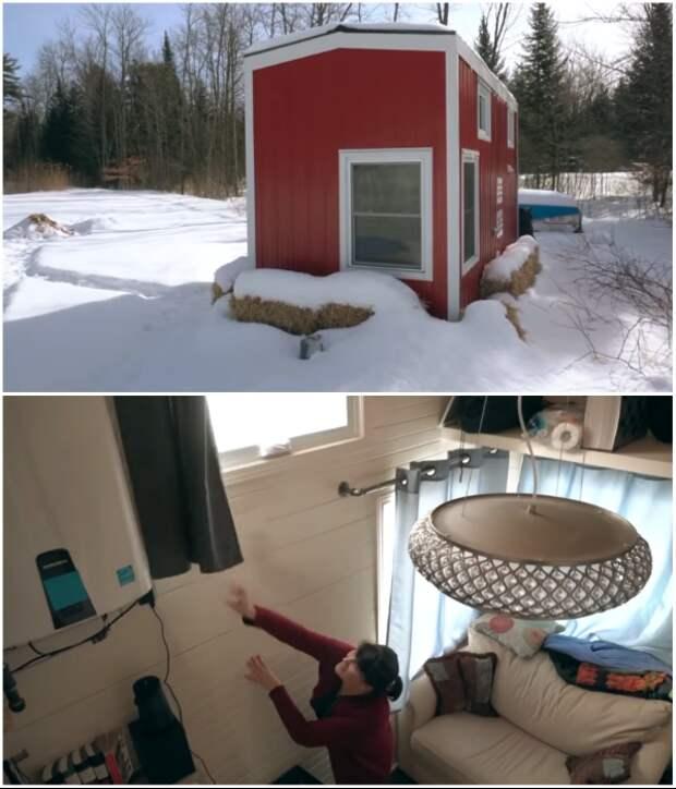 Крошечный дом на колесах помог Кристин стать финансово независимой и счастливой. | Фото: youtube.com/ house system.