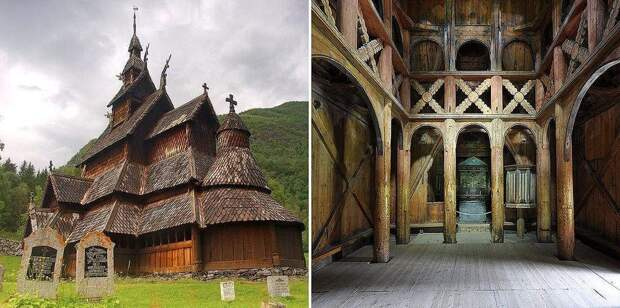 Ставкирка в Боргунне (1180 – 1250), Лердал, Норвегия.