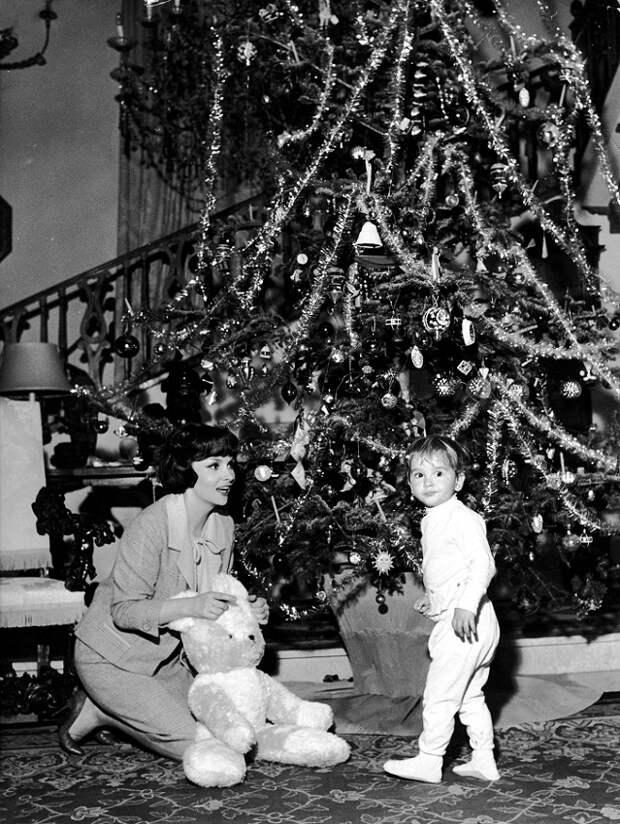 Ретро-актрисы. Рождественские фотографии