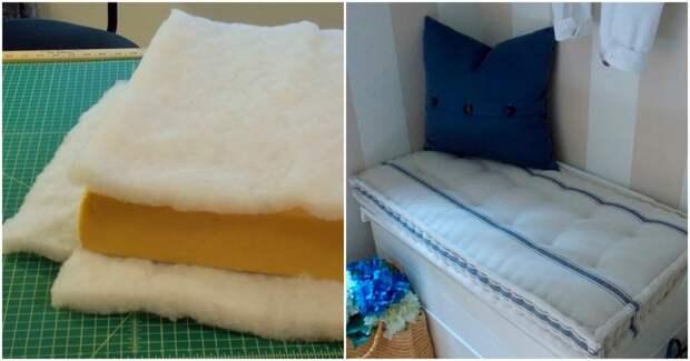 Шикарная подушка в стиле французского матраса, которая украсит любой интерьер