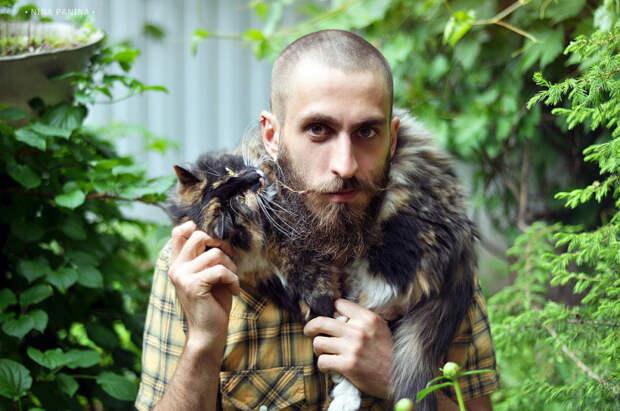 15 котиков и их хозяев-мужчин, которые испытывают друг к другу по-настоящему нежные чувства