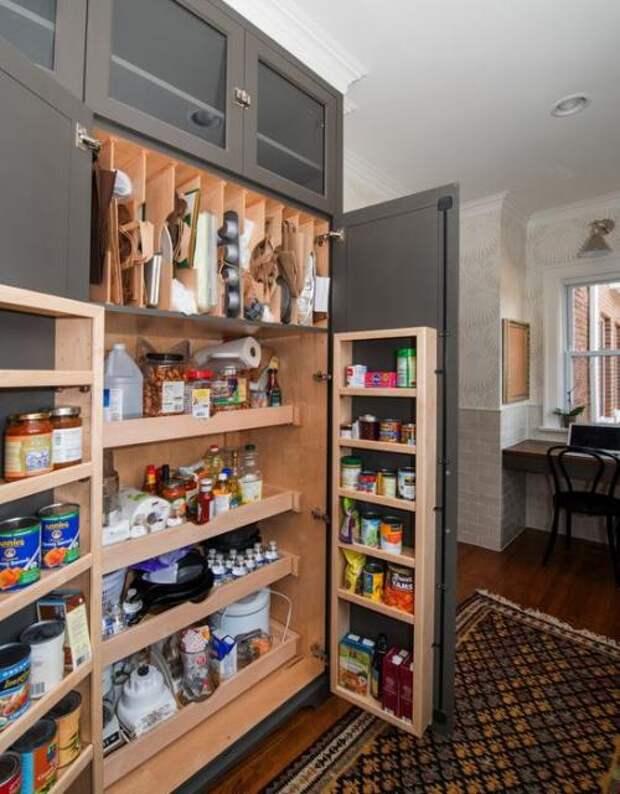 Удобное хранение продуктов на кухне: фото идеи 11