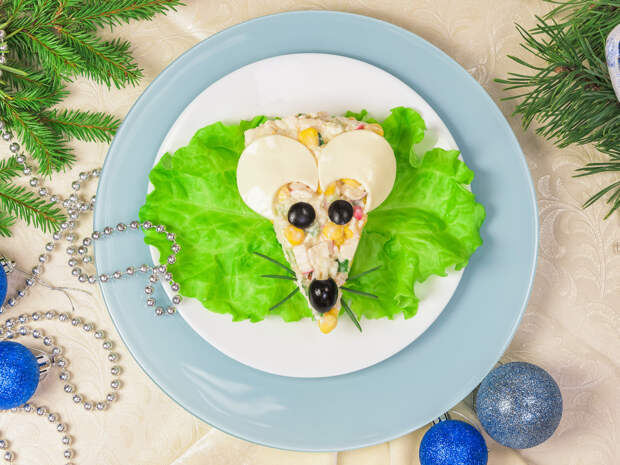Фотоидеи: как украсить новогодние блюда в год Белой Крысы