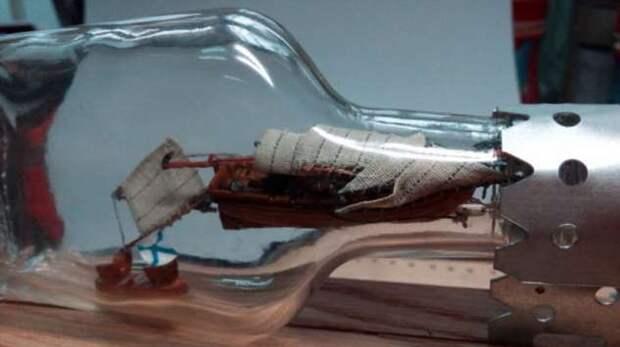 Корабль в бутылке: как он там оказывается и сложно ли такой сделать самому