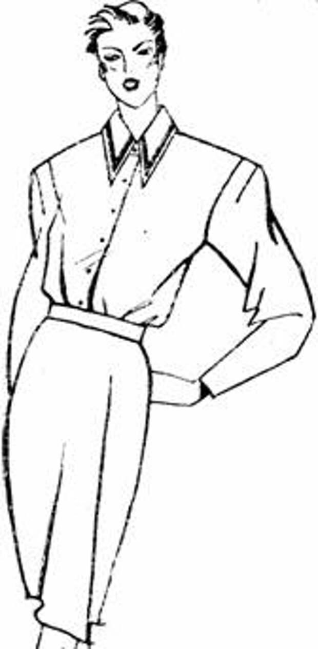 рукав с верхним и нижним швами