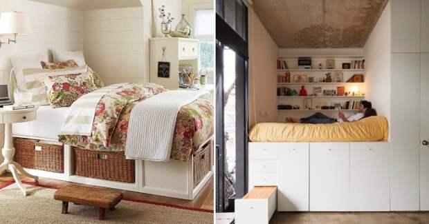 Кровать с секретом, или Как организовать скрытые системы хранения в спальне