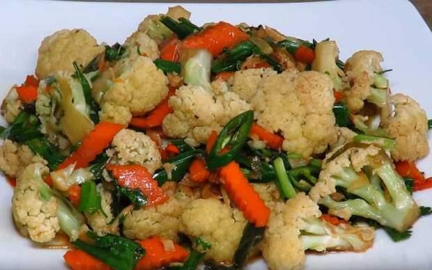 Как приготовить цветную капусту на сковороде — пошаговый рецепт