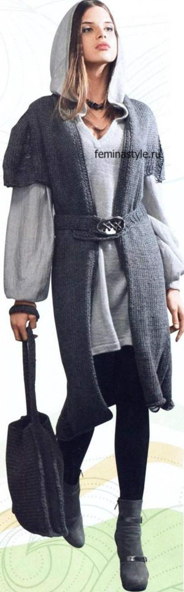 Пальто, туника и сумка-планшет
