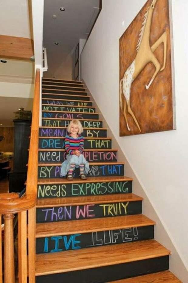 как можно украсить лестницу в доме