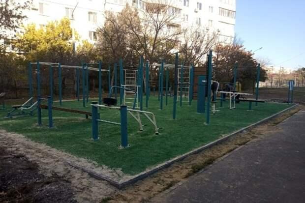 В Симферополе установили  5 новых спортивных площадок