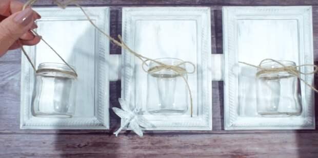 Чудесное пасхальное украшение и декор из стеклянных банок и рамок