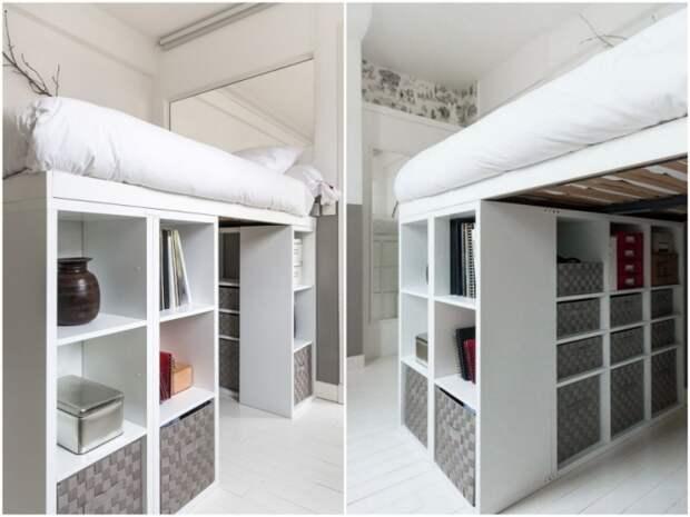 Два простых способа собрать большой рабочий стол из стеллажных систем из IKEA