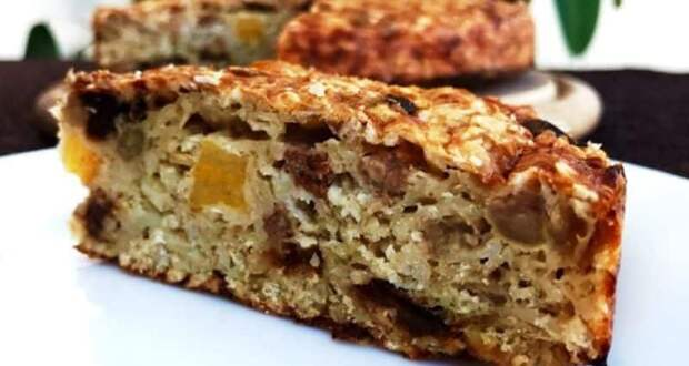 Пирог из овсянки на скорую руку. Полезно, вкусно и просто. Без сахара и муки 2