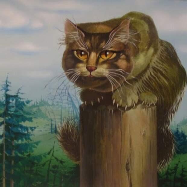 В избушке Бабы-Яги: Ловля мышей - это искусство! Баба-Яга, Баюн, животные, коты, рассказ, юмор