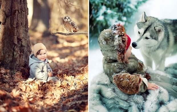Неподдельные эмоции: 12 трогательных фотографий о любви детей и животных