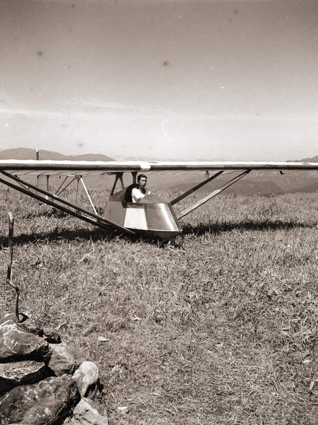 Japanese Man in Glider, 1930s