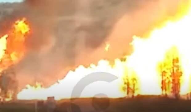 Газопровод загорелся вБашкирии