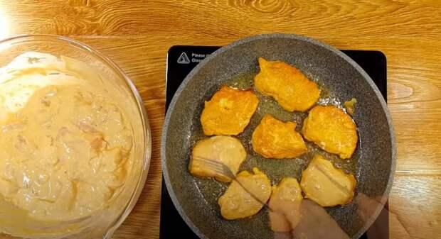 Наготовила гору, а съели за 2 минуты. Закуска из куриной грудки: кусочки нежного мяса в кляре
