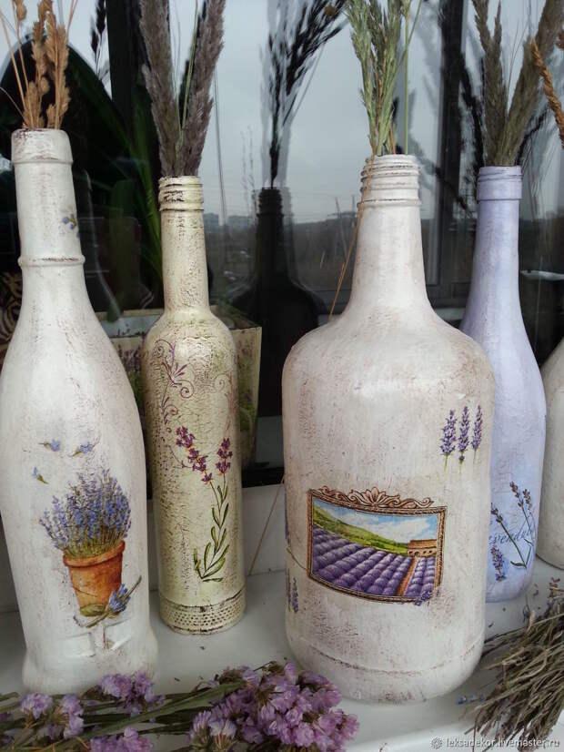 Бутылки в стиле прованс
