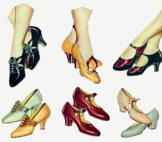 Туфли, популярные в эпоху 1920-х годов. | Фото: mylitta.ru.
