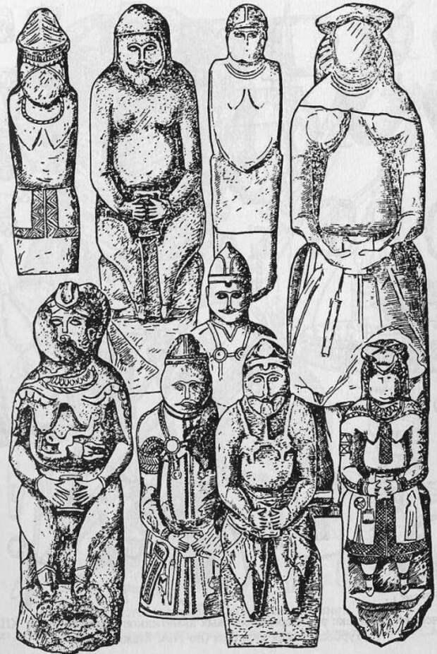 Каменные изваяния кочевников Евразии XII-XIII вв. (по С.А. Плетневой)