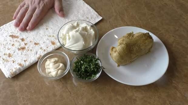 Закуска из лаваша Закуска, Рецепт, Вкусно, Лаваш, Другая кухня, Приготовление, Видео рецепт, Видео, Длиннопост, Кулинария