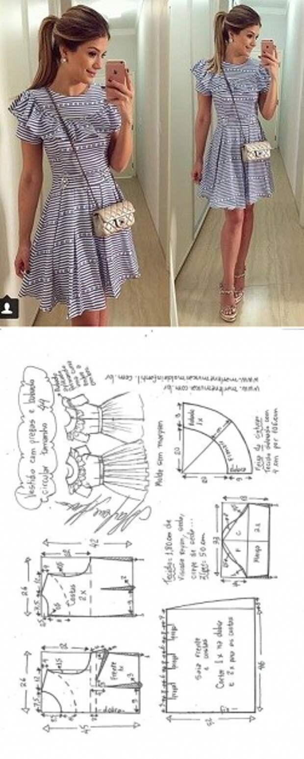 Невероятная подборка платьев с простыми выкройками