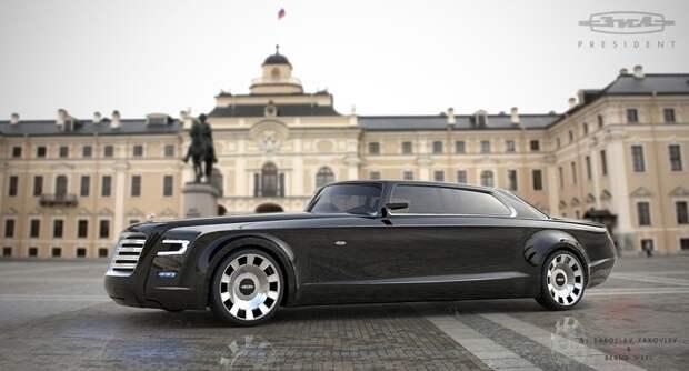 Лимузин ЗИЛ для президента. автомобили, ваз, газ, концепты, российские автомобили, уаз
