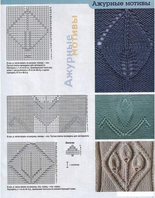 Тёплые, уютные и загадочные: 7 вязаных шалей со схемами