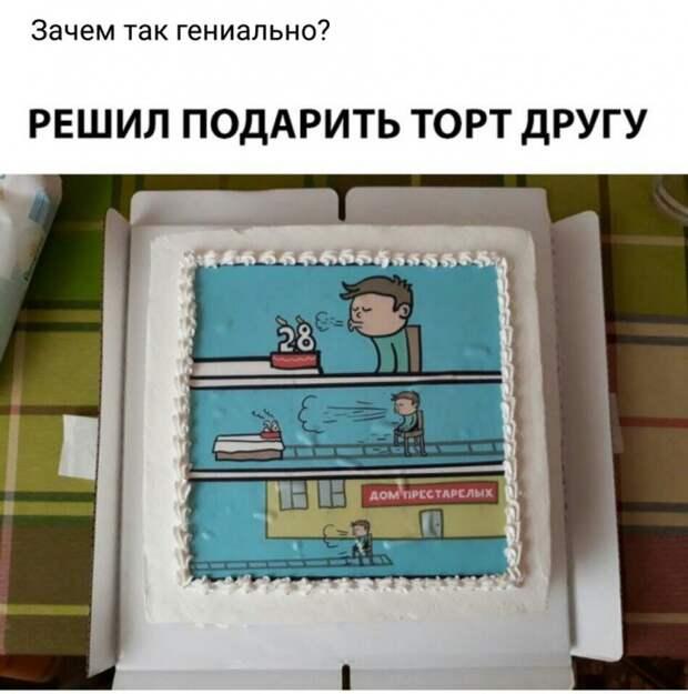 Торт с картинкой для друга