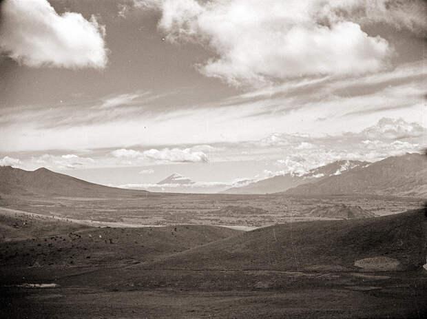 Mountain Basin & Dramatic Clouds, 1930s Japan