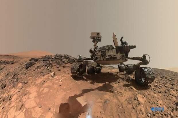 Земные камни нашли на Марсе