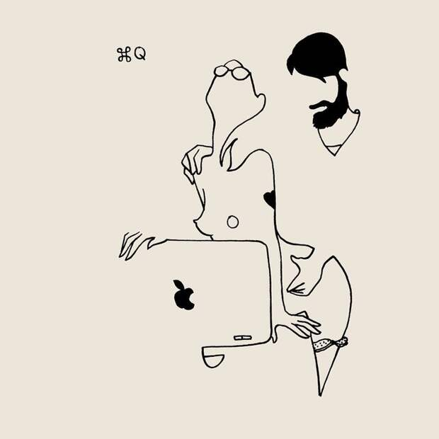 Пикантная игра лаконичных линий: эротические миниатюры инкогнито изПарижа