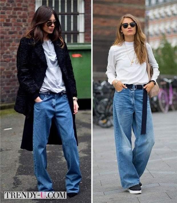 Вот так нужно носить оверсайз джинсы