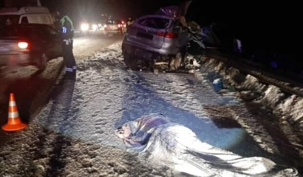«От головы почти ничего не осталось»:  на уральской трассе иномарка влетела в тягач