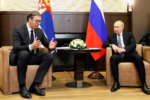Владимир Путин встретился с президентом Сербии Александром Вучичем.