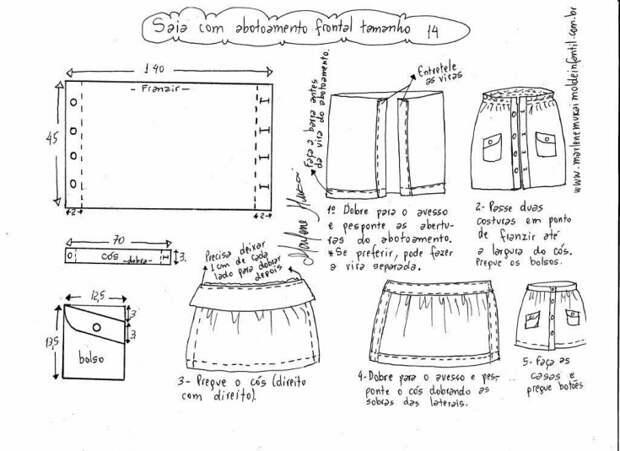 Выкройки ретро юбок (подборка на все размеры)