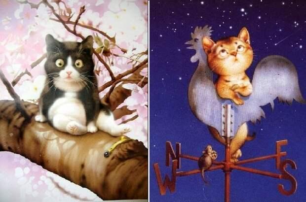 Коты Макото Мурамацу.