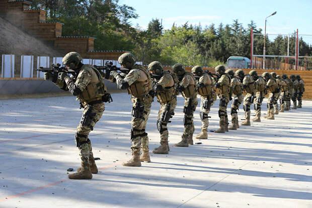 спецназ вооруженных сил Грузии 2008. Все по натовским стандартам.
