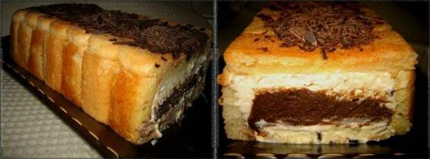 """Нежнейший пирог без выпечки  из печенья """"Савоярди"""" - """"изюминка"""" десерта в начинке!"""