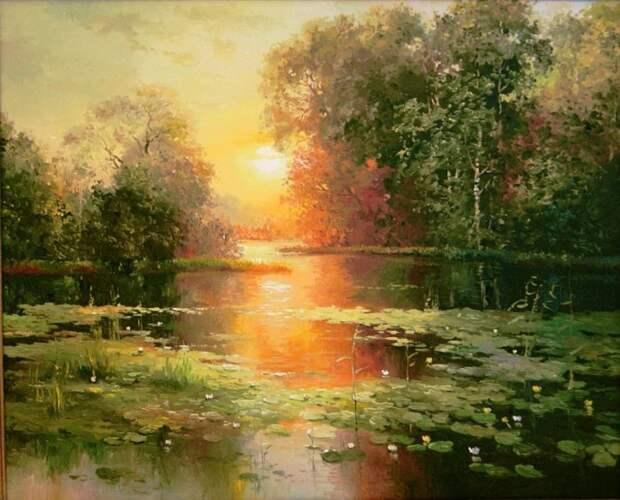 Латвийский художник-пейзажист Jan Bartkevics (Ян Барткевич)