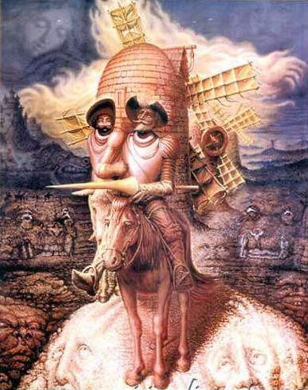 Картины-иллюзии OCAMPO, портреты